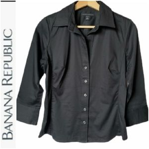 Banana Republic 3/4 sleeve stretch button down